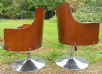 Pair 1960's Swivel Chairs